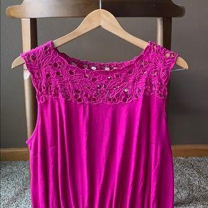 Loft vibrant pink dress